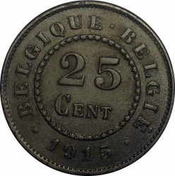 Munt > 25centimes, 1915-1918 - Belgie  - obverse