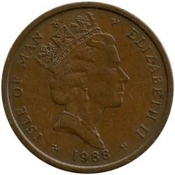 Кованица > 2пенија, 1988-1995 - Острво Мен  - obverse