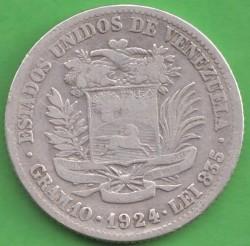 Moneta > 2bolivarai, 1879-1936 - Venesuela  - reverse