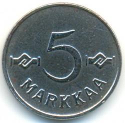 Münze > 5Mark, 1952 - Finnland  (Iron /grey color/) - reverse