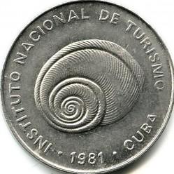 Moneta > 5centavos, 1981 - Kuba  (Denomination w/o number 5) - obverse