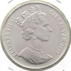 Moneta > 1corona, 1999 - Gibilterra  (Matrimonio del principe Edoardo e Sophie Rhys-Jones/ritratto/) - obverse