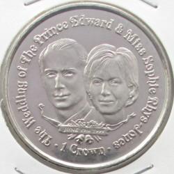 Moneta > 1corona, 1999 - Gibilterra  (Matrimonio del principe Edoardo e Sophie Rhys-Jones/ritratto/) - reverse