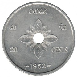 Moeda > 20cêntimos, 1952 - Laos  - obverse