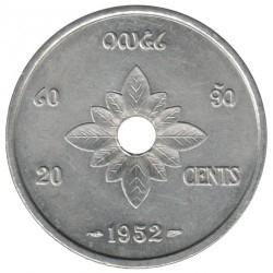 Mynt > 20centiemes, 1952 - Laos  - reverse