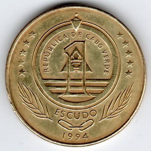 1 escudo 1994 turtle cape verde coin value ucoin net