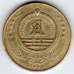 Münze > 1Escudo, 1994 - Kap Verde   (Schildkröte) - obverse
