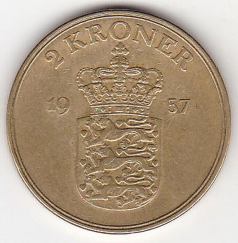 2 Kronen 1947 1959 Dänemark Münzen Wert Ucoinnet