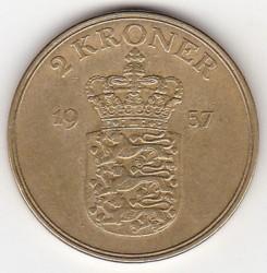 Moneda > 2kroner, 1947-1959 - Dinamarca  - reverse