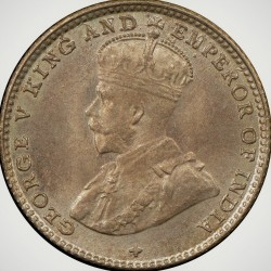 Coin > 5cents, 1918-1920 - Straits Settlements  - reverse