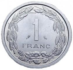 Монета > 1франк, 1969-1971 - Екваториална Африка  - obverse