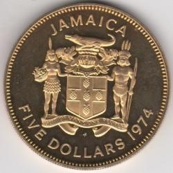 Münze > 5Dollar, 1974-1979 - Jamaika  - obverse