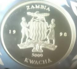 Moneda > 5000kwacha, 1998 - Zambia  (50 aniversario - Organización Mundial de la Salud) - obverse