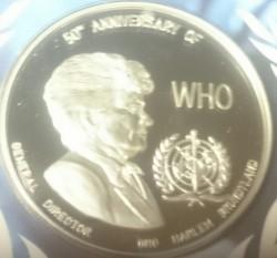 Moneda > 5000kwacha, 1998 - Zambia  (50 aniversario - Organización Mundial de la Salud) - reverse