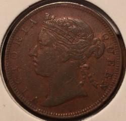 Moneta > ½centesimi, 1889 - Insediamenti dello Stretto  - reverse