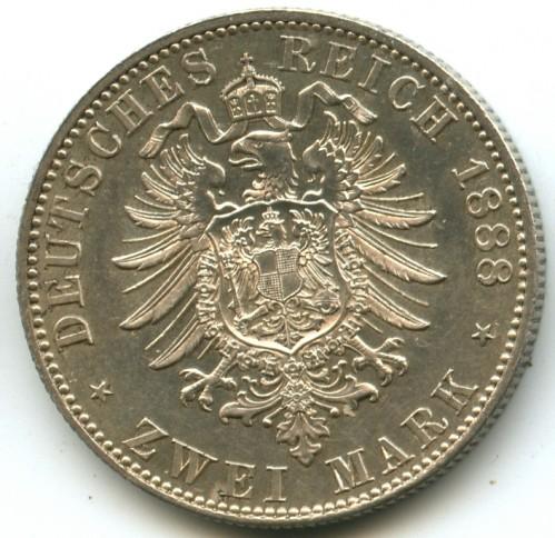 2 Mark 1888 Deutsches Kaiserreich Münzen Wert Ucoinnet