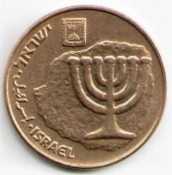 Mynt > 10agorot, 1986-2010 - Israel  (Hanukkah) - obverse