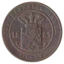 Moneta > 1centesimo, 1855-1912 - Indie Olandesi Orientali  - obverse