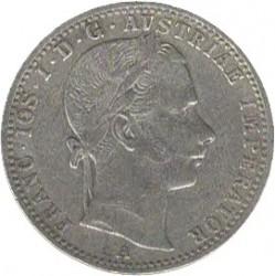 Münze > ¼Florin, 1859-1865 - Österreich   - obverse
