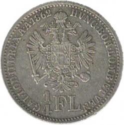 Münze > ¼Florin, 1859-1865 - Österreich   - reverse