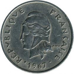 Монета > 20франков, 1967-1970 - Французская Полинезия  - obverse