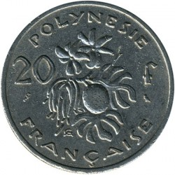 Монета > 20франков, 1967-1970 - Французская Полинезия  - reverse