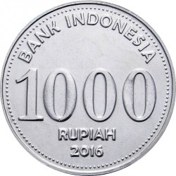 Pièce > 1000roupies, 2016 - Indonésie  - obverse