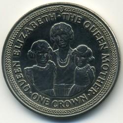 Moneta > 1korona, 1985 - Wyspa Man  (85 rocznica urodzin - Królowa Matka /Królowa Matka, Elżbieta i Małgorzata/) - reverse