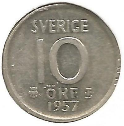 1957 SWEDEN  1  Ore UNC