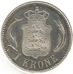 Coin > 1krone, 1915-1916 - Denmark  - reverse