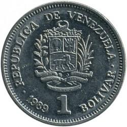Münze > 1Bolivar, 1989-1990 - Venezuela  - obverse