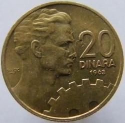 Münze > 20Dinar, 1963 - Jugoslawien  - reverse