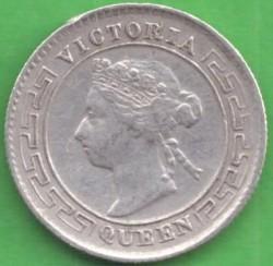 Монета > 10центов, 1892-1900 - Цейлон  - obverse